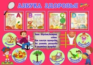 плакат азбука здоровья